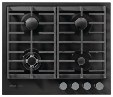 Варочная панель газовая Gorenje G6SY2B черный варочная панель электрическая gorenje ect693orab черный