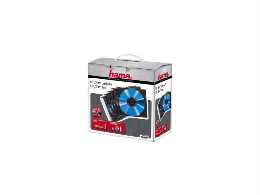 Коробка Hama H-49935 Коробки для CD дисков SlimLine 100 шт. черный