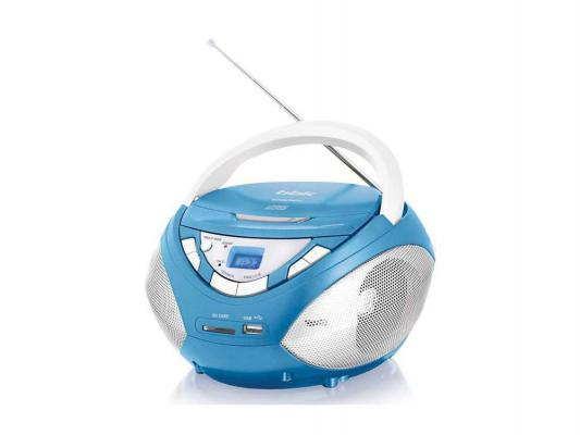 Магнитола BBK BX108U голубой металлик