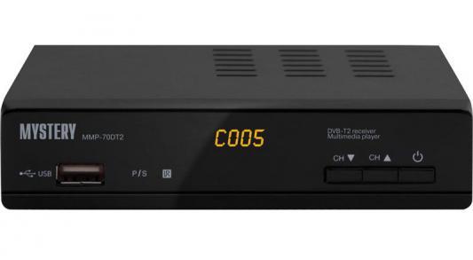 Тюнер цифровой DVB-T2 MYSTERY MMP-70DT2 черный d color dc700hd dvb t2 цифровой тв тюнер