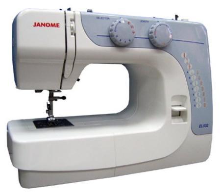 Швейная машина Janome EL532 бело-голубой цена и фото