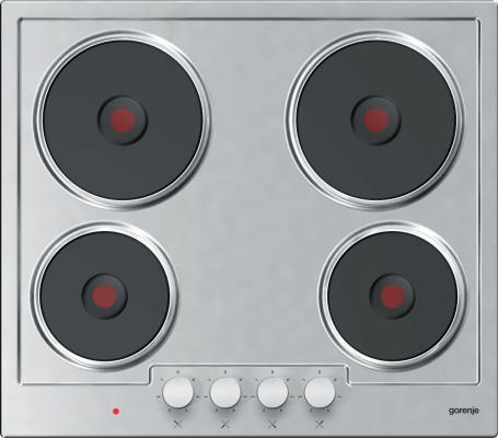 Варочная панель электрическая Gorenje E6N1BX серебристый цена