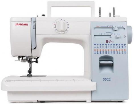 Швейная машина Janome 5522 белый швейная машина janome sew line 500s белый sew line 500s