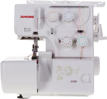 Оверлок Janome 210D белый janome т 72 оверлок
