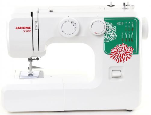 Швейная машина Janome 5500 белый швейная машинка janome dresscode