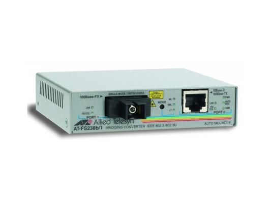 Медиаконвертер Allied Telesis AT-FS238B/1-60 Single-fiber 10/100M bridging converter with 1550Tx/1310Rx 15km reach медиаконвертер allied telesis at fs238a 1 60
