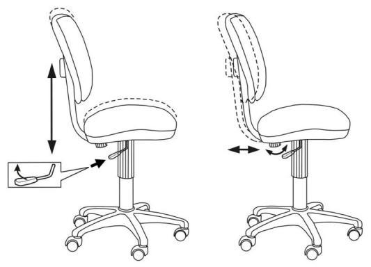 Фото - Кресло Buro CH-204NX/26-21 синий кресло для офиса бюрократ ch 204nx 26 28 черный 26 28