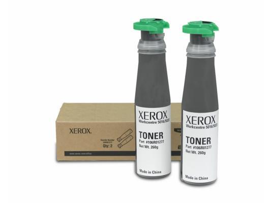 Тонер-картридж Xerox 106R01277 для WC 5016/5020 черный 2шт картридж xerox 106r01277