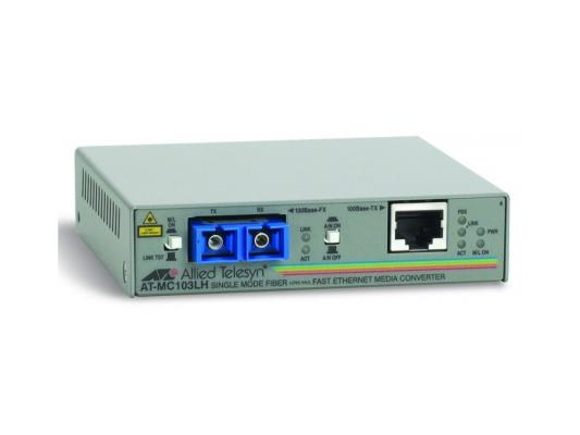 Медиаконвертер Allied Telesis AT-MC103LH-60 RJ-45 to 100FX SC single-mode fiber 40km модуль расш l1 mdu 0123 fxc 100fx sc fiber module 1609 2409 3209tfx