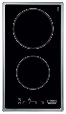 Варочная панель электрическая Ariston 7HDK 2KL (IX) черный варочная панель электрическая ariston kis 644 ddz черный