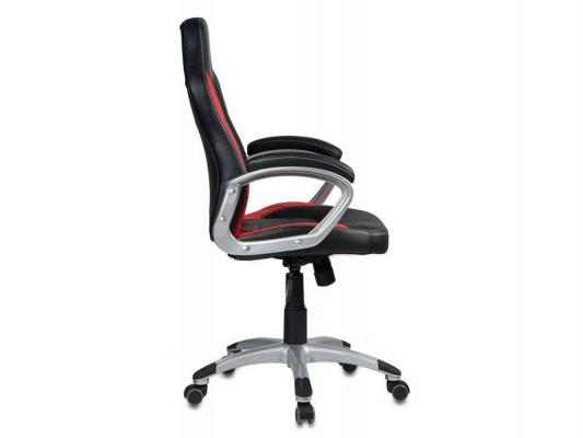 Кресло Buro CH-825S/Black+Rd черный красный искусственная кожа пластик серебро