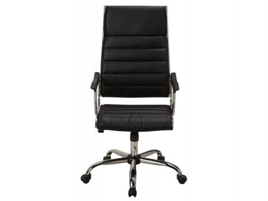 Кресло Buro CH-994 черный искусственная кожа крестовина хром подлокотники пластиковые накладки