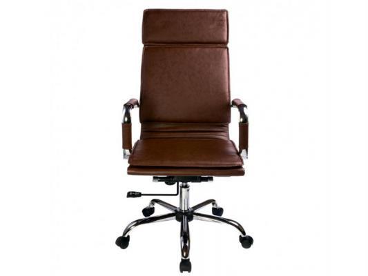 Кресло Buro CH-993/BROWN крестовина хром искусственная кожа коричневый цена