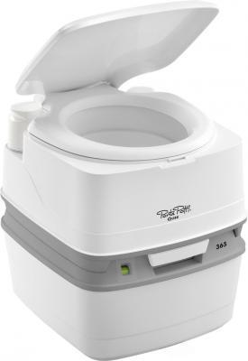 Биотуалет Porta Potti Qube 365 White (цвет белый, нижний бак 21л, верхний бак 15л, ручной насос, индикатор заполнения нижнего бака, размер 41,4х38,3х4