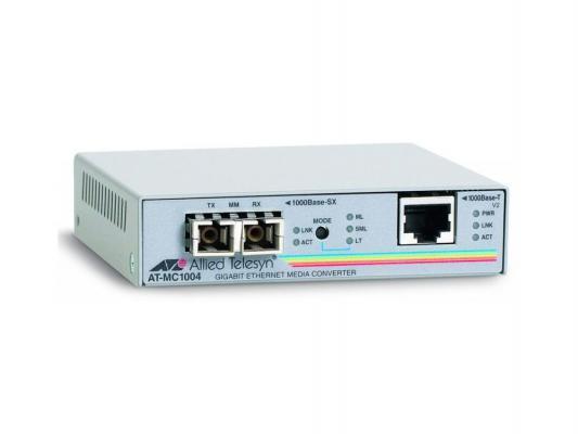 Медиаконвертер Allied Telesis AT-MC1004-20/60 11000T to 1000SX/SC Media Converter