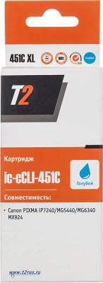 Картридж T2 IC-CCLI-451C XL для Canon PIXMA iP7240/MG5440/6340/MX924 голубой