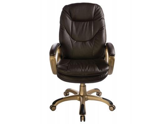 Кресло Buro CH-868YAXSN/COFFEE темно-коричневый искусственная кожа пластик золото