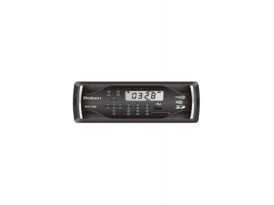 Автомагнитола Rolsen RCR-102B24 бездисковая USB MP3 FM SD MMC 1DIN 4x45Вт 24В черный
