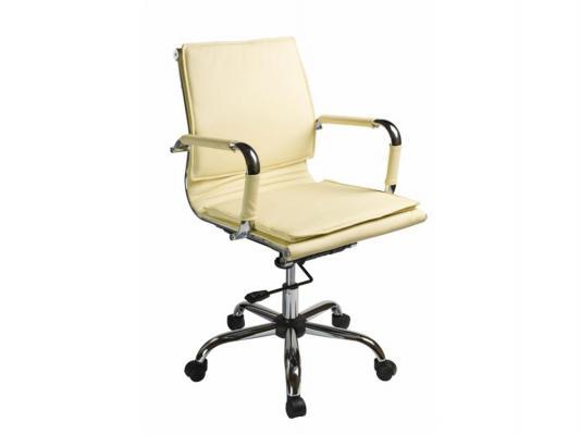 Кресло Buro CH-993-Low/Ivory низкая спинка крестовина хром искусственная кожа белый цены