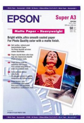 Фотобумага Epson A3 167г/м2 матовая 50л C13S041261 epson фотобумага струйная печатная бумага