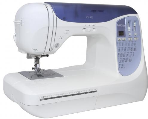 Швейная машина Brother NX-200 бело-синий швейная машина brother modern 21 бело синий