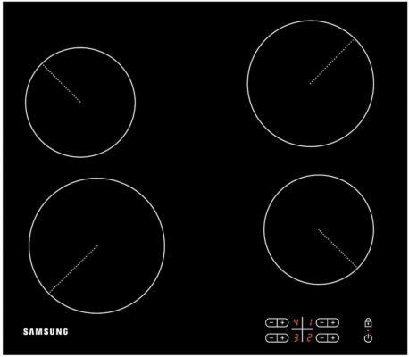 Варочная панель электрическая Samsung C61R2AEE черный