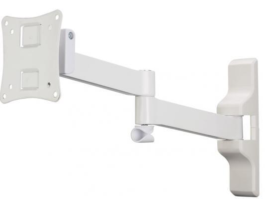 Кронштейн HAMA H-108737 XS белый для ЖК ТВ до 26 настенный VESA 100x100 max 25 кг кронштейн hama h 108723 xs черный для жк тв до 26 настенный наклон 20° поворот 180° vesa 100x100 max 25 кг