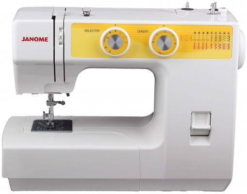 Швейная машина Janome JT1108 бело-желтый цена и фото