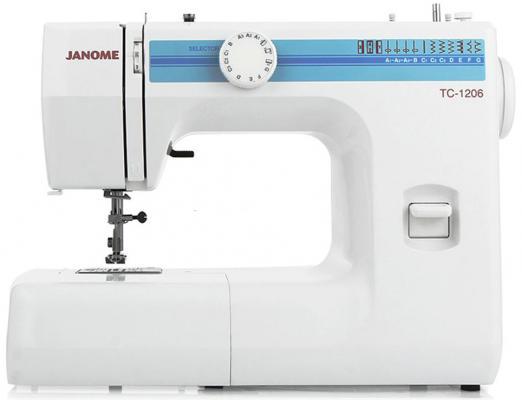 Швейная машина Janome TC 1206 белый janome 2055 белый зеленый