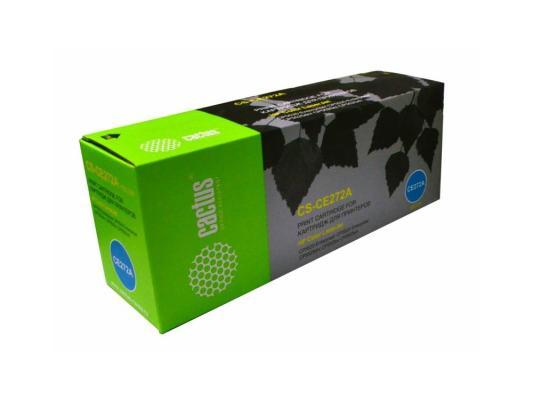 Картридж Cactus CS-CE272A для HP Color LaserJet Enterprise CP5525 желтый 15000стр