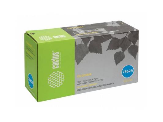 Картридж Cactus CS-Q7562A для HP Color LaserJet 2700/3000 желтый 3500стр картридж cactus cs c7115xs для laserjet 1200 1220 1300 3300 3380 3500стр