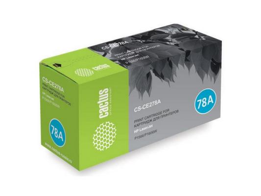 Картридж Cactus CS-CE278A/CE278AS для HP LaserJet P1566/P1606w черный 2100стр ce278a 278a toner cartridge for hp laserjet pro m1536dnf p1606dn p1560 p1566 p1600 ucan ctsc kit 12 000 pages refill kits