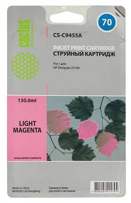 Картридж Cactus CS-C9455A №70 для HP Designjet Z3100 светло-пурпурный free shipping q5669 60664 for hp designjet t610 t1100 z2100 z3100 z3200 vacuum fan aerosol fan assembly original used