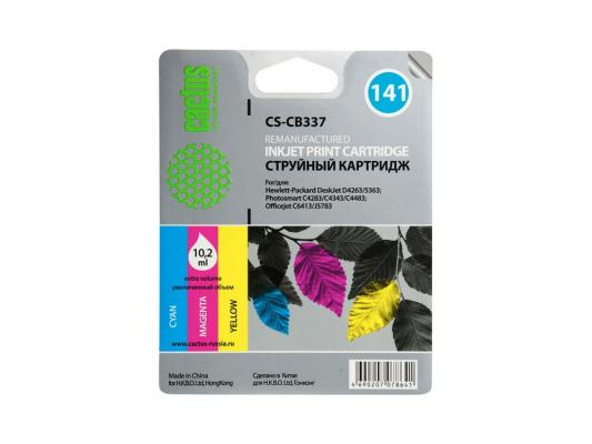 Картридж Cactus CS-CB337 №141 для HP DeskJet D4263/D4363/D5360/ OfficeJet J5783/J6413 трехцветный