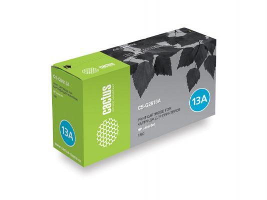 Картридж Cactus CS-Q2613A для HP LaserJet 1300 черный 2500стр cs h2613a bk compatible toner printer cartridge for hp q2613a q2613 q 2613a 2613 13a 13 1300 1300n 2500 pages free fedex
