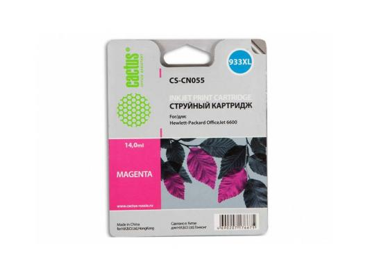 Картридж Cactus CS-CN055 №933XL для HP OfficeJet 6600 пурпурный 14мл картридж cactus cs cn053 932xl для hp officejet 6600 черный 40мл