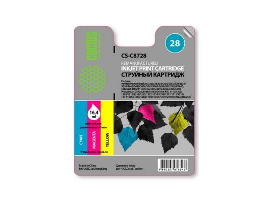 Картридж Cactus CS-C8728 для HP DeskJet 3320/3325/3420/3425/3520/3535/3550 многоцветный 450стр флип кейс ecostyle shell для lenovo s650 черный page 2