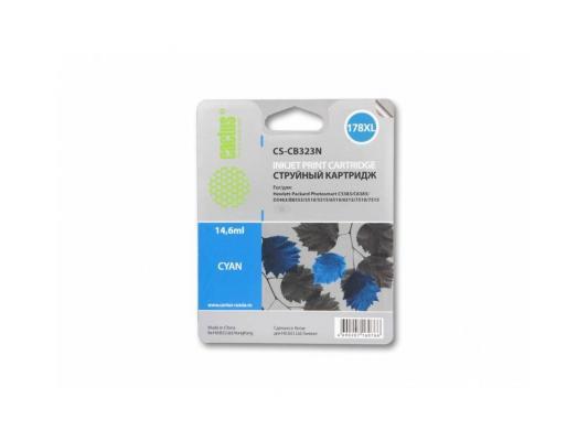 Картридж Cactus CS-CB323N №178XLN для HP PhotoSmart B8553/C5383/C6383/D5463/5510 синий 14.6мл