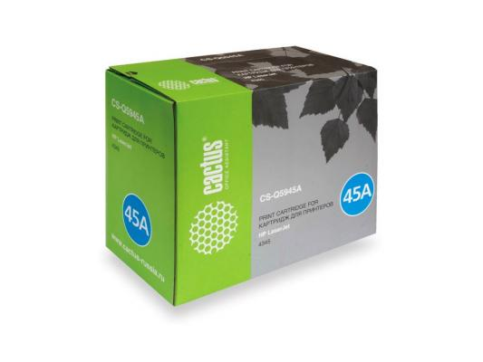 Картридж Cactus CS-Q5945A для HP 4345/4345MFP черный 18000стр for hp formatter board q6476 60001 laserjet 4345mfp used