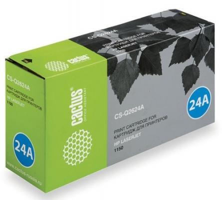 все цены на Тонер-картридж Cactus CS-Q2624A для HP LaserJet 1150 черный 2500стр онлайн