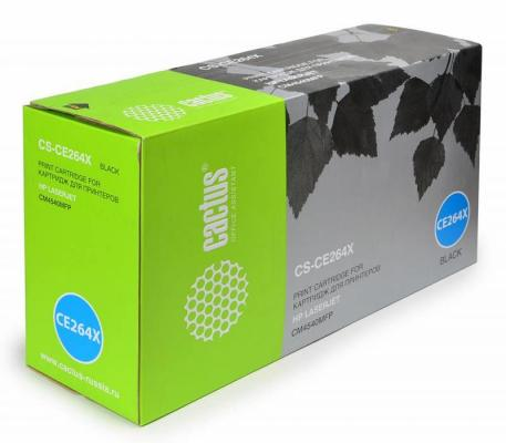 все цены на  Картридж Cactus CS-CE264X для HP LaserJet Pro CLJ CM4540 черный 17000стр  онлайн