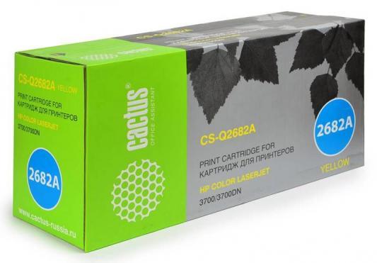 Картридж Cactus CS-Q2682A для HP CLJ 3700 желтый 6000стр картридж cactus cs q2673ar для hp clj 3500 3550 3700 пурпурный 4000стр