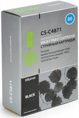 Картридж Cactus CS-C4871 для HP DesignJet 1050C/1055CM/1000 черный картридж cactus cs c4871 для hp designjet 1050c 1055cm 1000 черный
