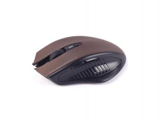 Беспроводная мышь Jet.A OM-U34G Brown Comfort (800/1200/1600 dpi, 5 кнопок, USB)