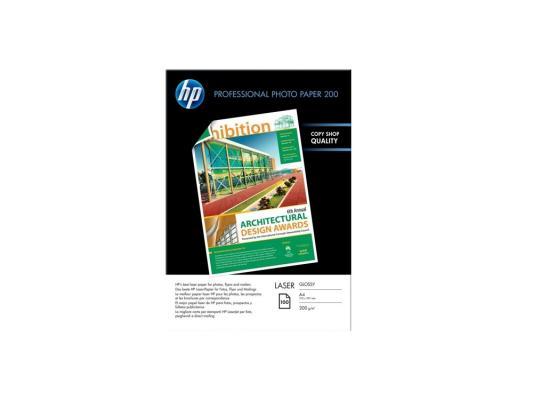 Фотобумага HP A4 210x297мм 200г/м2 двухсторонняя для лазерной печати 100 листов глянцевая CG966A бумага lomond a4 200г м2 глянцевая двухсторонняя 250л 0310341