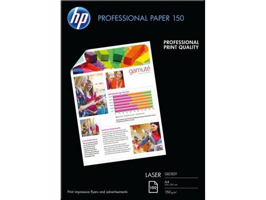 Фотобумага HP A4 210x297мм 150г/м2 двухсторонняя для лазерной печати глянцевая CG965A