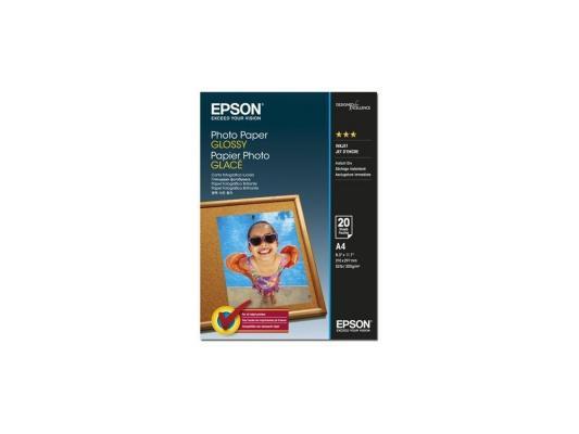 Фотобумага Epson A4 200г/м2 глянцевая 20л C13S042538 epson фотобумага струйная печатная бумага