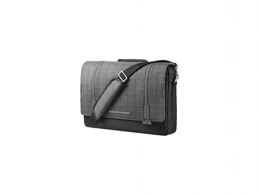 "все цены на Сумка для ноутбука 15.6"" HP Ultrabook Messenger серый-черный F3W14AA онлайн"