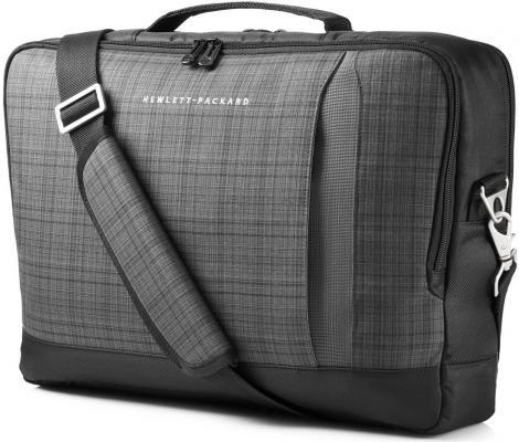 Сумка для ноутбука 15.6 HP Ultrabook Top Load серый-черный F3W15AA сумка для ноутбука 18 hp value top load case qb683aa