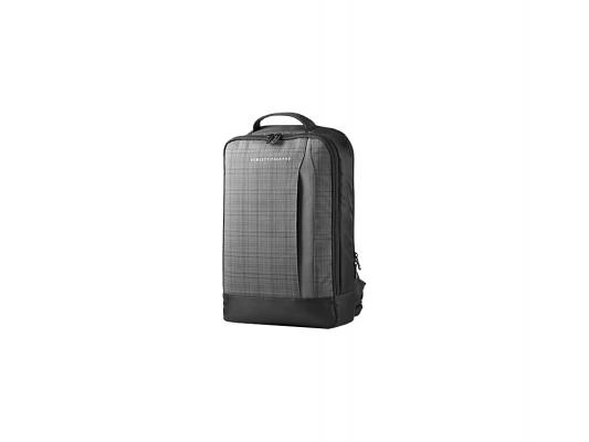 Рюкзак 15.6 HP F3W16AA Ultrabook Backpack синтетика черный серый yuxi 1x new dc power adapter plug 5 5x2 5mm female to 4 5x3 0 male pin for hp ultrabook laptop
